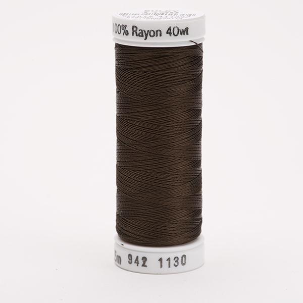 SULKY RAYON 40 farbig, 225m Snap Spulen -  Farbe 1130 Dk. Brown