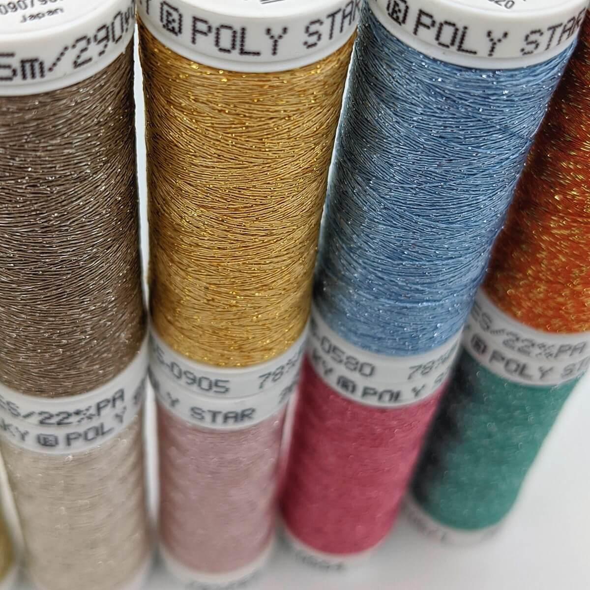 SULKY POLY SPARKLE 30 - Glittering Pastel (10 x 265m Snap Spulen)