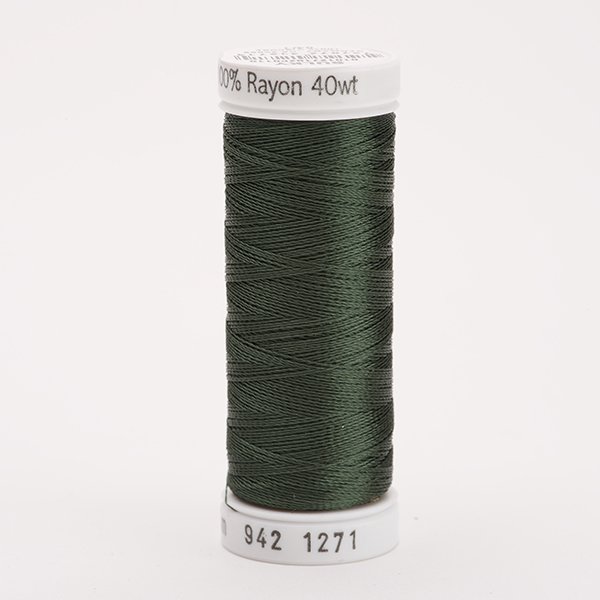 SULKY RAYON 40 farbig, 225m Snap Spulen -  Farbe 1271 Evergreen