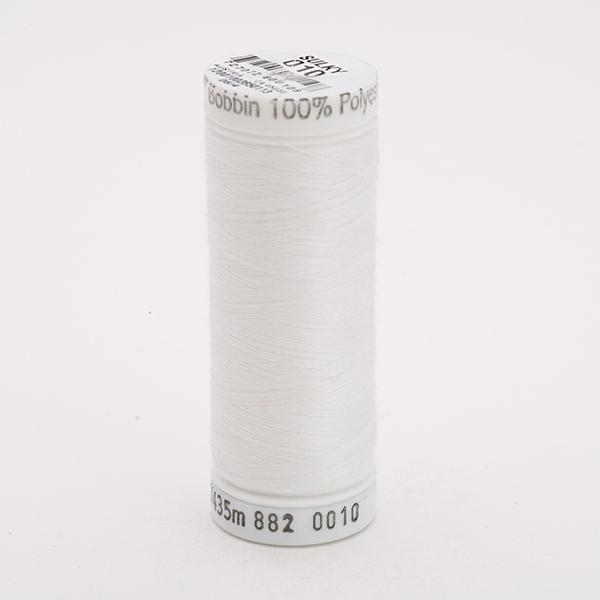 SULKY BOBBIN weiß, 435m Snap Spulen - Farbe 0010 White