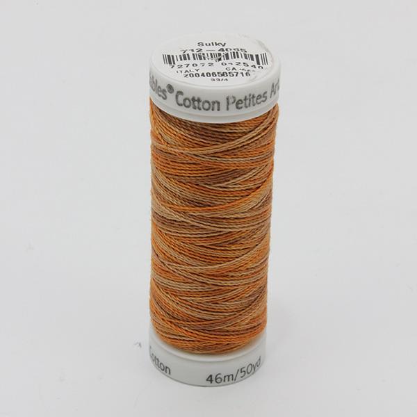 SULKY COTTON PETITES 12, 46m Snap Spulen -  Farbe 4065 Sundown multicolour
